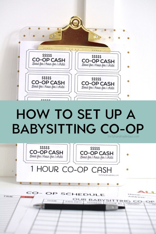 How to set up a babysitting co-op with free printable. | Save your sanity and find out how you can go out more! |  www.thirtyhandmadedays.com