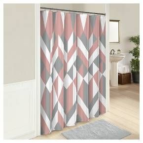 Combine casual style with classic elegance with the Marble Hill Lena Shower Curtain. This modern transitional shower curtain features a large scale geometric print in a soft color palette creating the perfect amount of style and sophistication.  Curtain measures 72x72. 12 button holes allow for easy hanging with shower hooks or rings. Pair this 100% cotton curtain with a plastic shower liner to get the most protection and performance. Liner and hooks/rings not included. Machine washable....