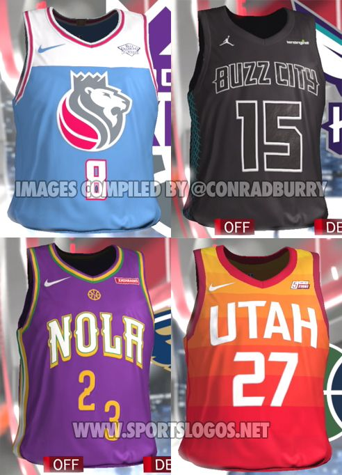 Video Game Leaks Nearly Full Set of NBA City Edition Alternate Jerseys  93566846e