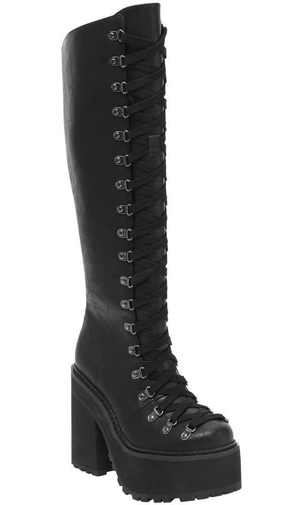 55d4e910480ce Bloodletting | KNEE-HIGH BOOTS in 2019 | OMG Shoes! | Grunge shoes ...