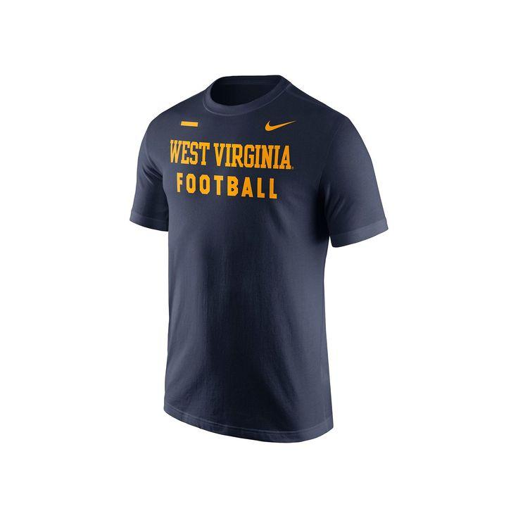 Men's Nike West Virginia Mountaineers Football Facility Tee, Size: Medium, Blue (Navy)