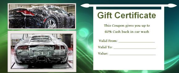 16 best auto detailing gift certificate template images on 16 personalized auto detailing gift certificate templates demplates yelopaper Image collections