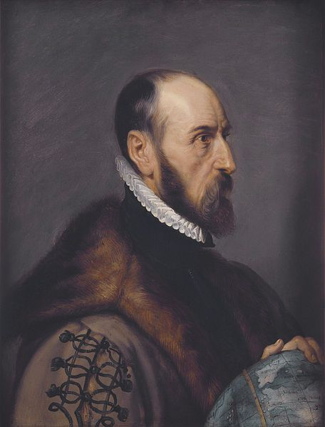 """Abraham Ortelius ((14 April 1527 – 28 June 1598) by Peter Paul Rubens:  Abraham Ortelius in his work Thesaurus Geographicus ... suggested that the Americas were """"torn away from Europe and Africa ... by earthquakes and floods"""" and went on to say: """"The vestiges of the rupture reveal themselves, if someone brings forward a map of the world and considers carefully the coasts of the three [continents]."""""""