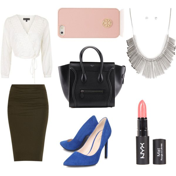 Office day by bambyee on Polyvore featuring polyvore fashion style Topshop Nine West Tory Burch