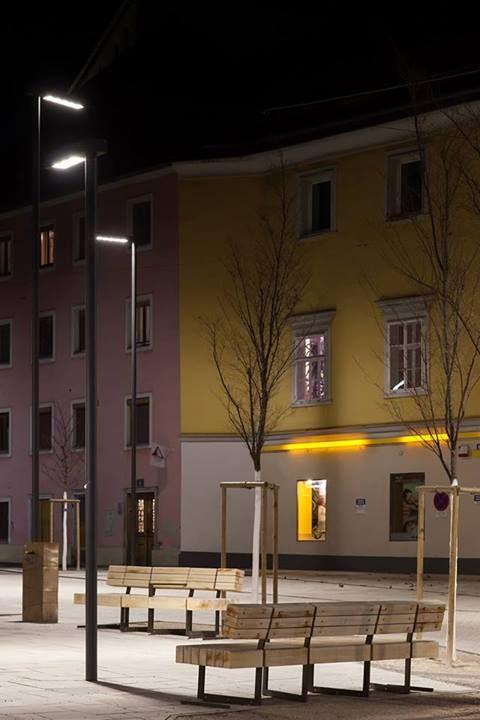 annenstrasse, graz, by night