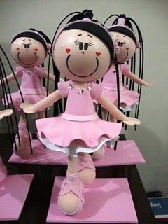 El Rincon Fofuchero: Fofuchas bailarinas ( con moldes )