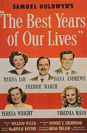 1946 Best Picture winner...The Best Years of Our Lives! It's about life for soldiers and their families after WWII: Movie Posters, Full Movie, Classic Movie, Myrna Loy, Fredric Marching, Academy Awards, Living 1946, Favorite Movie, Dana Andrew
