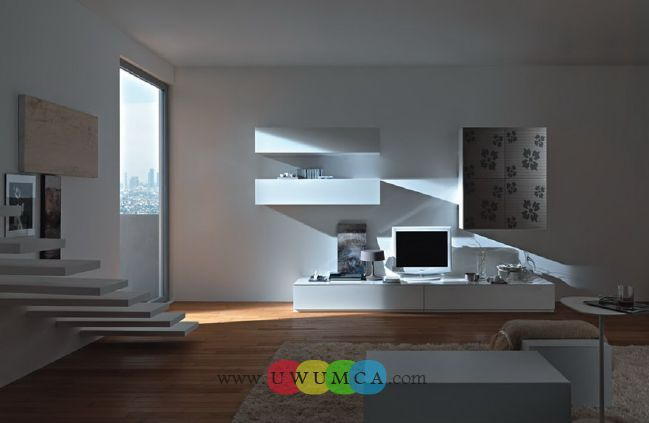 Living Room:Decorating Brazilian Living Room And Lighting With Sofa Furniture Coffee Table Chairs Rug Design For Small Spaces TV Wall Units Design 03 In White Colors Luxury Living Room Decor of an Art Collector by Gisele Taranto