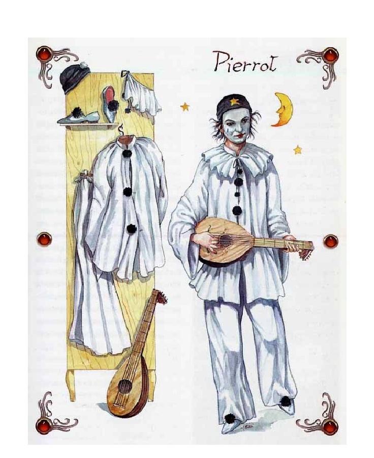 A.a.v.v. - Maschere Italiane  Pierrot e gli elementi del suo costume di scena.