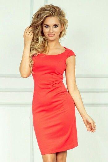 :) https://www.mokado.pl/Sukienka-Model-53-2-Dark-Coral-p19257 #sukienka#mokado#odziez#Fashion#trendy#style#moda
