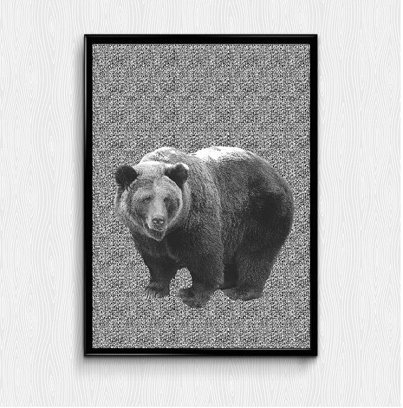 Check out this item in my Etsy shop https://www.etsy.com/listing/258533047/bear-print