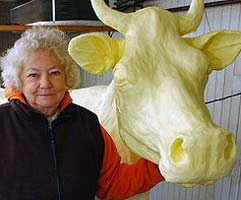 Norma Lyon, butter cow lady.  She passed away in 2011.