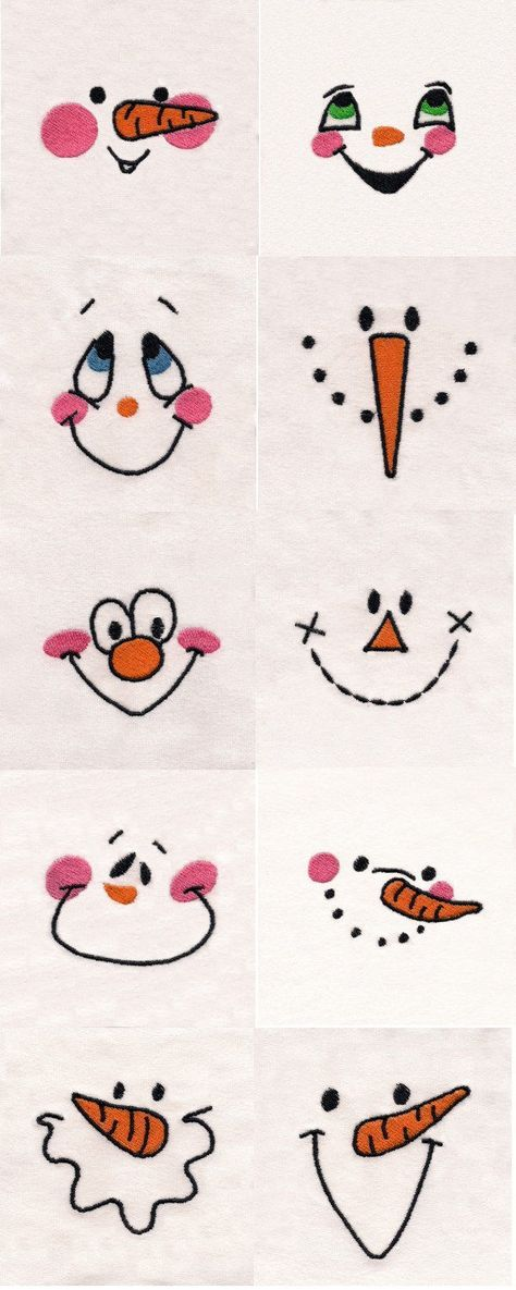Snowmen faces
