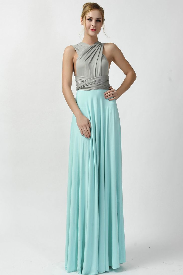2016 new arrival two tone infinity convertible bridesmaid dress [tt-1] - $73.80 : Infinity Dress | Convertible Dress Bridesmaid Dresses Online, TinnaInfinityDress
