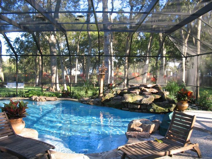 49 best indoor pools images on pinterest indoor swimming - Swimming pool screen enclosures cost ...