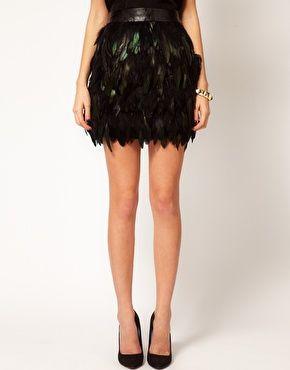 Image 4 ofWarehouse Feather Skirt