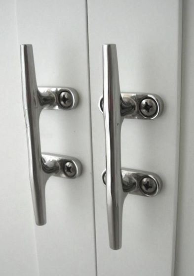 Yacht cleats for cabinet handles
