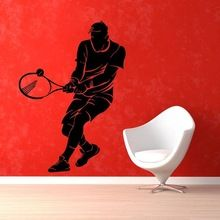 Tennis Sticker Sports Decal Muurstickers Posters Vinyl Wall Decals Pegatina Quadro Parede Decor Mural Tennis Sticker ** Click the image to visit the  AliExpress.com #HomeDecor