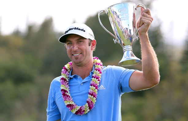 Dustin Johnson's prize for winning the Hyundai Tournament of Champions is a traditional-style silver loving cup.