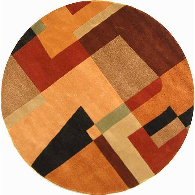 Li Magnificent Hand Tufted Wool Floor Covering Makes The Perfect Accent Rug Round Area Rugscontemporary