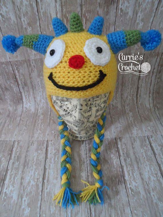 Crochet el sombrero de Henry Hugglemonster por carriescrochetUS
