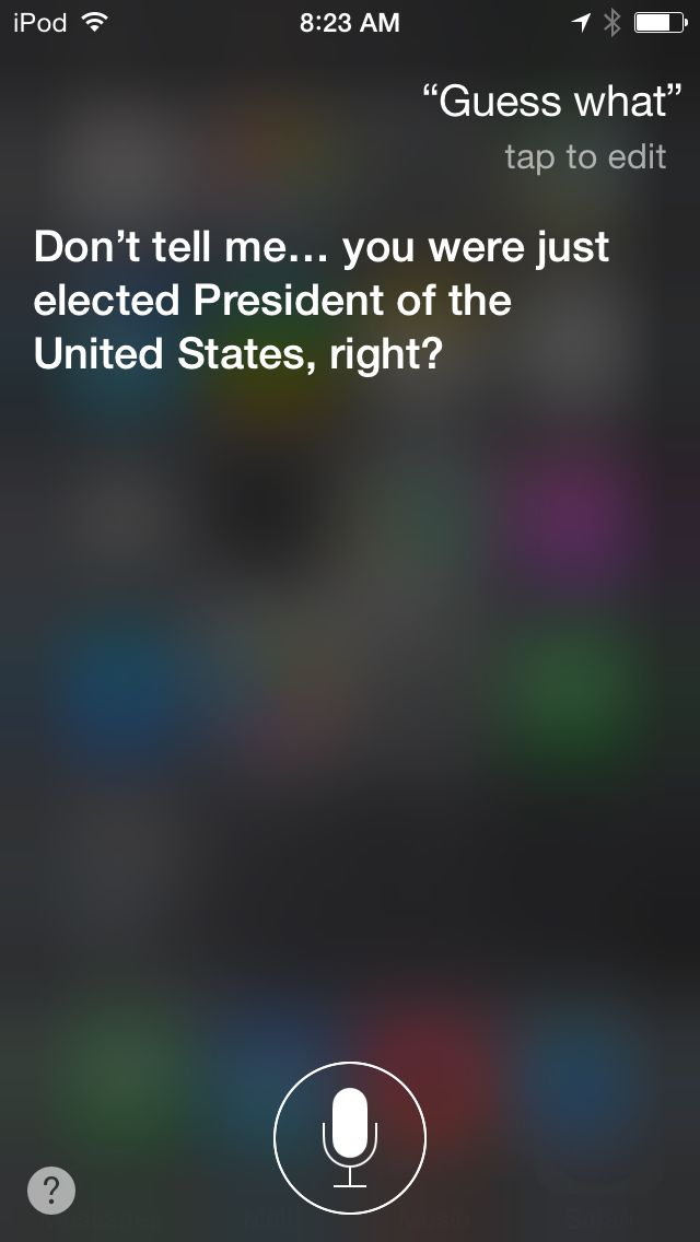 Funny things to ask Siri.