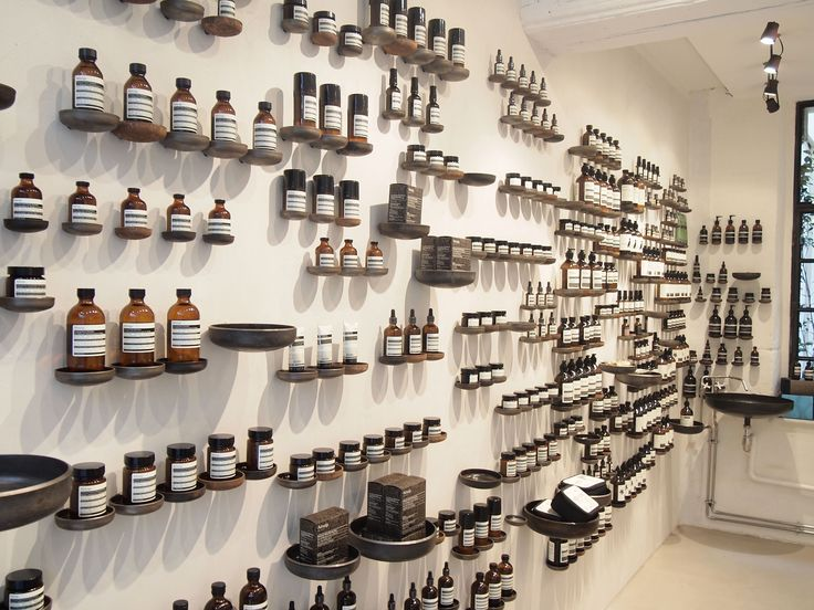 Five great ideas for displaying products by Aesop #ArchiJuice #RetailDesign