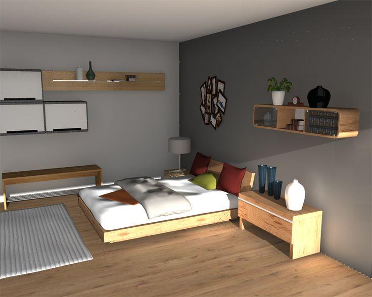 grey bedroom rendering in homebyme bedroom decorating design ideas. Black Bedroom Furniture Sets. Home Design Ideas