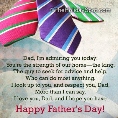 #poems on father's day