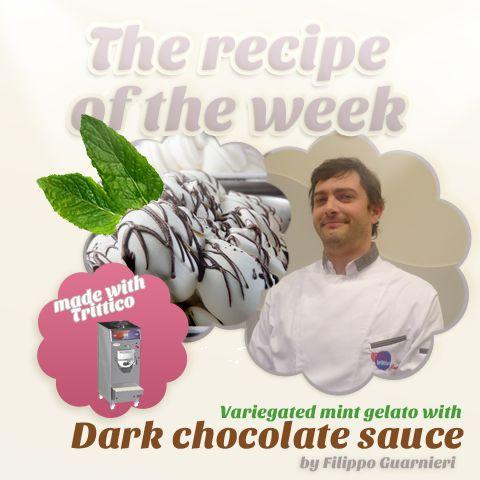 The #recipeoftheweek: #darkchocolate #sauce for a variegated mint gelato by Filippo Guarnieri ! https://www.facebook.com/BRAVOSPA/photos/a.218288168188180.66026.160418363975161/894133433936980/?type=1&theater