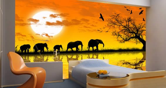 Africa mural decorative painting walls furniture for African mural painting