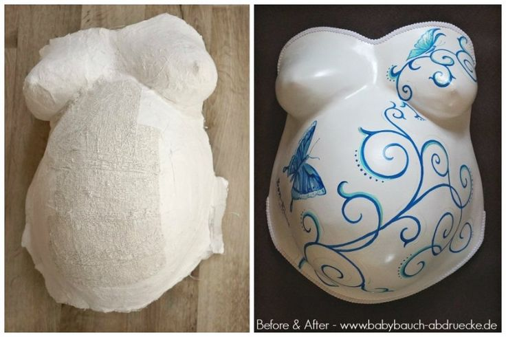 Plaster cast from Babybauch mending and Veredelungsset