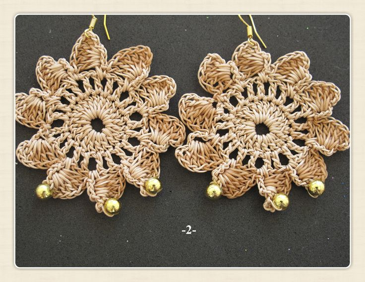 hand made crochet earrings