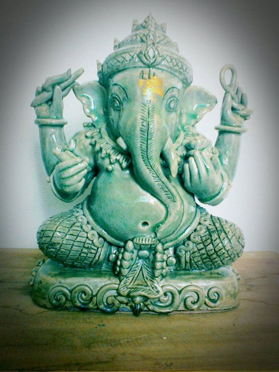 Check out this item in my Etsy shop https://www.etsy.com/listing/207693307/celadon-ganesh-ganesha-statuehandicrafts