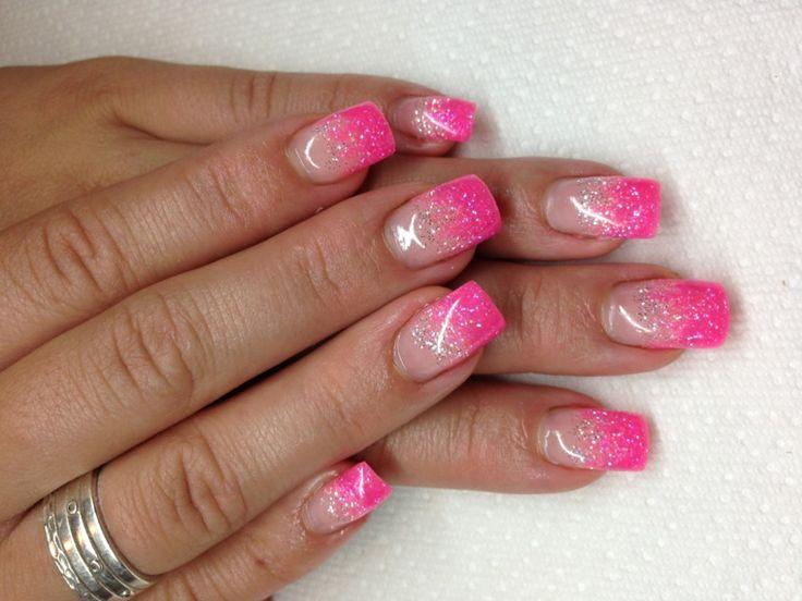 unghie rosa gel, una french manicure brillante e luminosa ...