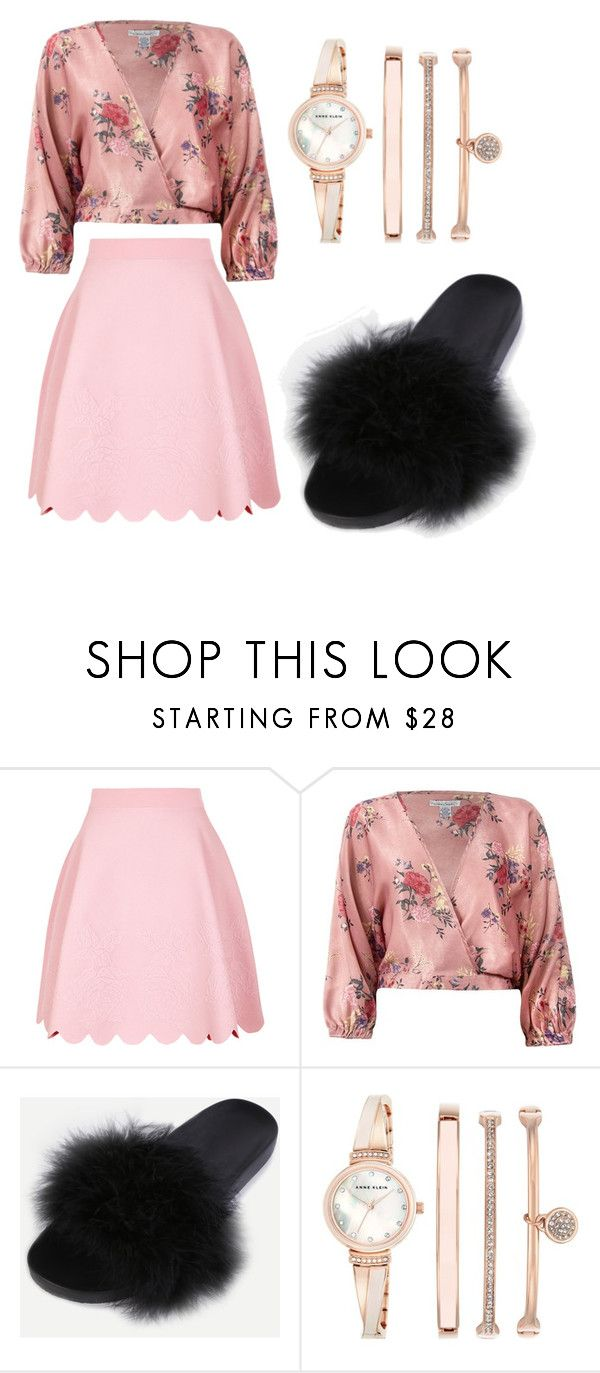 """""""Untitled #330"""" by denysa-boldog on Polyvore featuring Alexander McQueen, Sans Souci, WithChic and Anne Klein"""