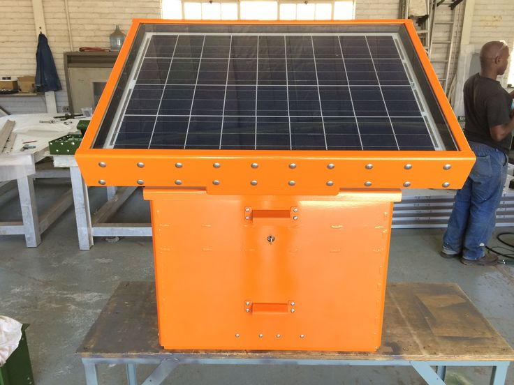 FTC4 - Field Telemetry Cabinet Fitted on top is the SPX 50W Solar Panel Protection