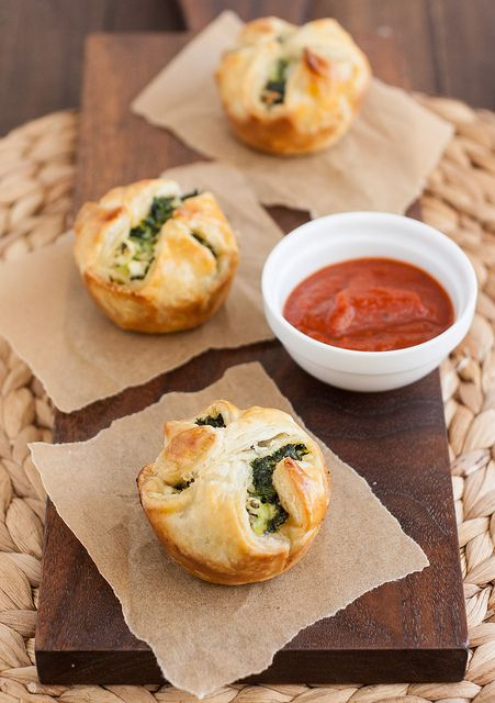 Spinach and Feta Puff Pastry Bites from Tracey's Culinary Adventures