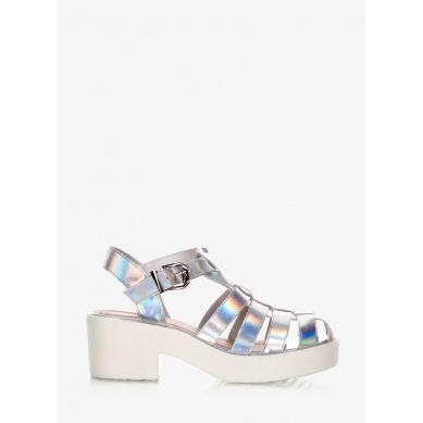 Sandały I Love Silver Hologram Sandals