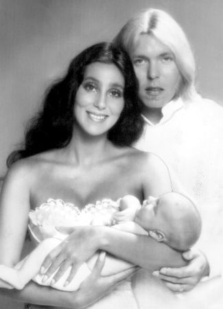 Cher, Gregg Allman and their son, Elijah Blue Allman