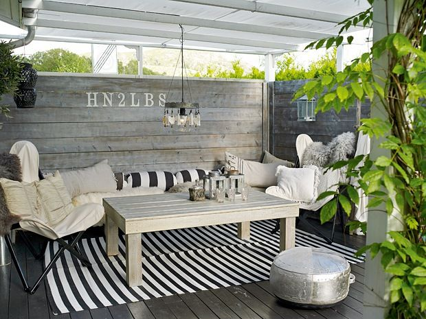Back porch idea for a banquette ~ Additional Living - Homemade luxury in Sandnes - Boligpluss.no