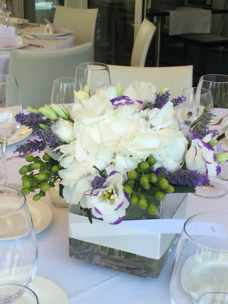 wedding#weddingflowers#fiori#centrotavola#lavanda#ortensie#biancospinoevent