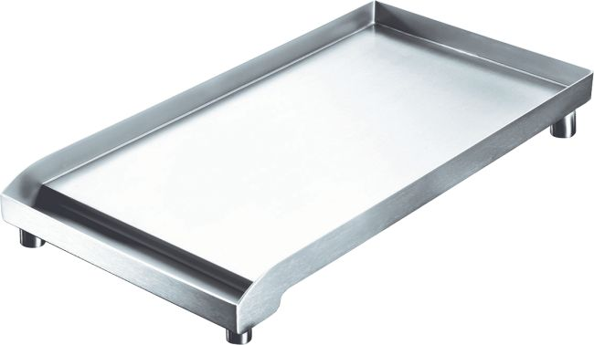 Portable griddle, suitable for all ranges. Finishing, stainless steel.