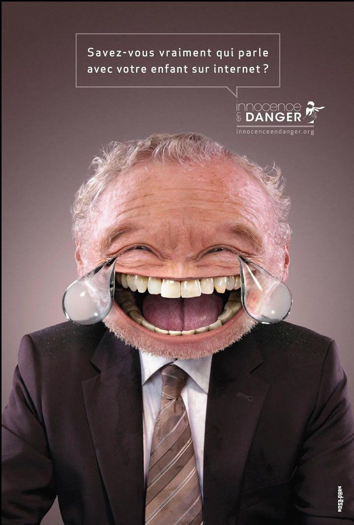 Campagne de sensibilisation Internet détourne des Smileys - Olybop