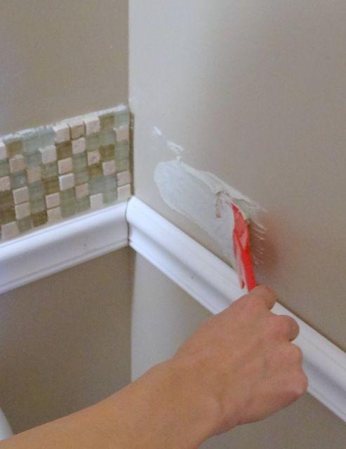 95 best tile borders listellos images on pinterest for Bathroom chair rail ideas