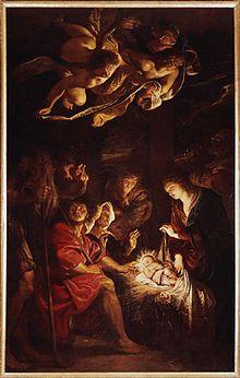 La adoración de los pastores, Pinacoteca Civica di Fermo.
