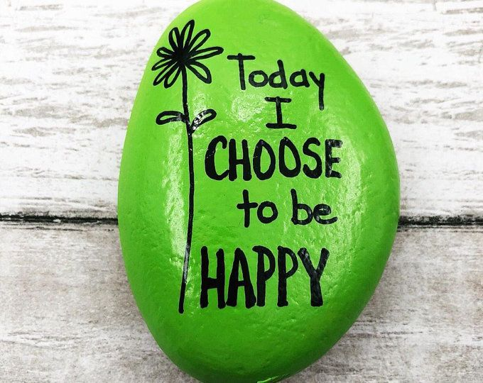 Today I Choose to Be Happy, Encouragement Rock, Affirmation Stone, Hand Painted Rock, Christmas gift, Teacher gift, stocking stuffer