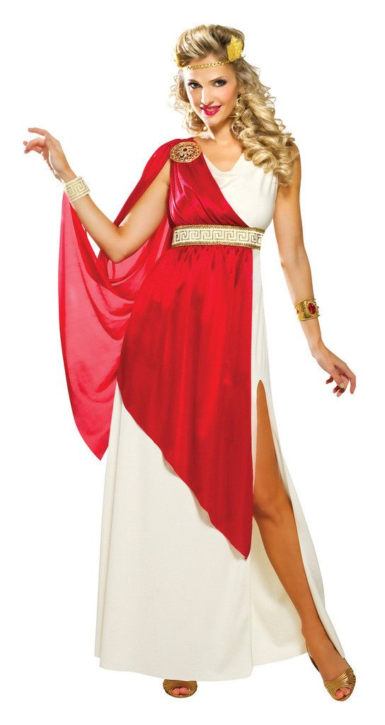 Lady Caesar Adult Costume Includes dress with attached cape, cuff and wreath headpiece. Weight (lbs) 1.19 Length (inches) 15.75 Width (inches) 10 Height(inches) 1.5