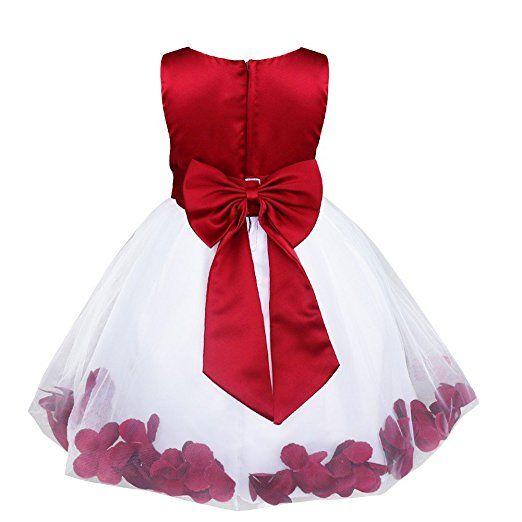 YiZYiF Mädchen Kleid Festlich Hochzeit Partykleid Tüll Festzug Kleidung Brautjungfer 92 98 104 110 116 128 140 152 164: Amazon.de: Bekleidung