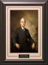 Harry S. Truman Portrait Matted and Framed